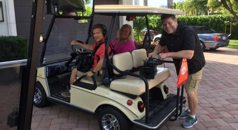 2017-02 Driving a Golf Cart & running audio for House Hunters in Naples, FL